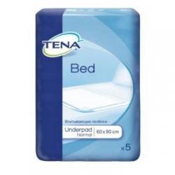 Впитывающие пеленки для взрослых TENA Bed Underpad Normal, 60х90 см, 5 штук