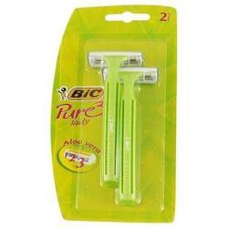 Бритвы одноразовые для женщин BIC Lady pure 3 с тремя лезвиями, 2 штуки