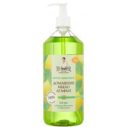 Домашнее мыло Агафьи Мятно-лимонное, 1 л, артикул 4607040318216