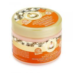 Маска для волос Рецепты бабушки Агафьи Облепиховая. Интенсивное питание и восстановление, 300 мл